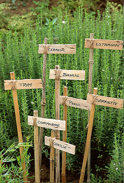rustic french plant markers