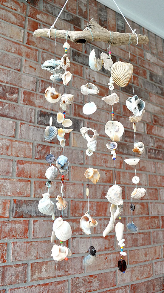 8 Creative DIY Wind Chime Ideas like this  sea shell wind chime!