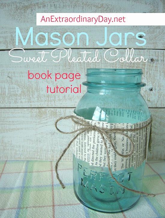 decorated mason jar