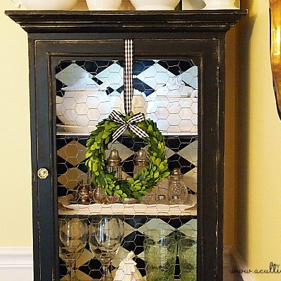 decorating a small china cabinet