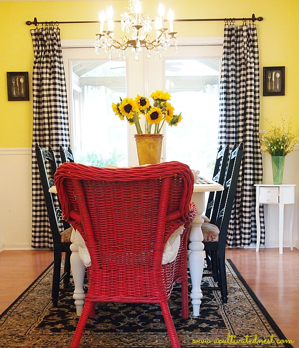 DIY cheap curtains buffalo check curtains that are really tablecloths
