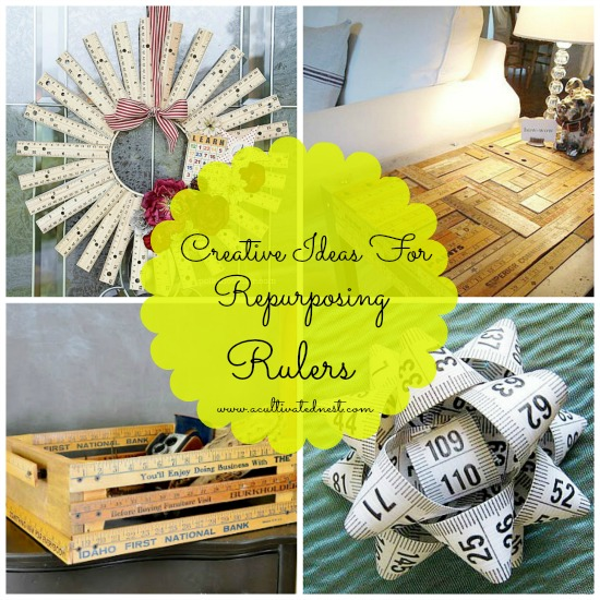 Who knew you could make so many things with rullers? Here are some creative ideas for repurposing rulers!