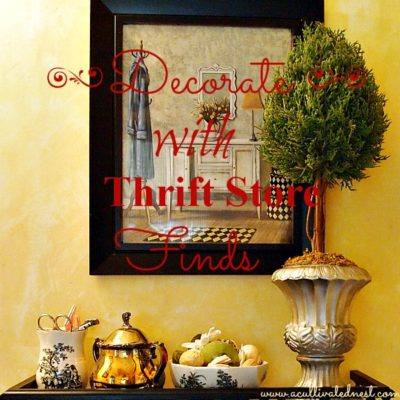decorate with thrift store finds