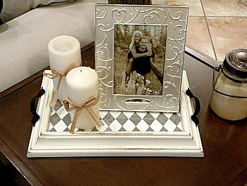 10 Creative Repurposed Picture Frame Projects: make a frame into a tray