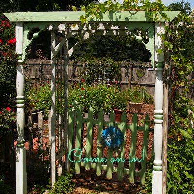 garden gate and arbor