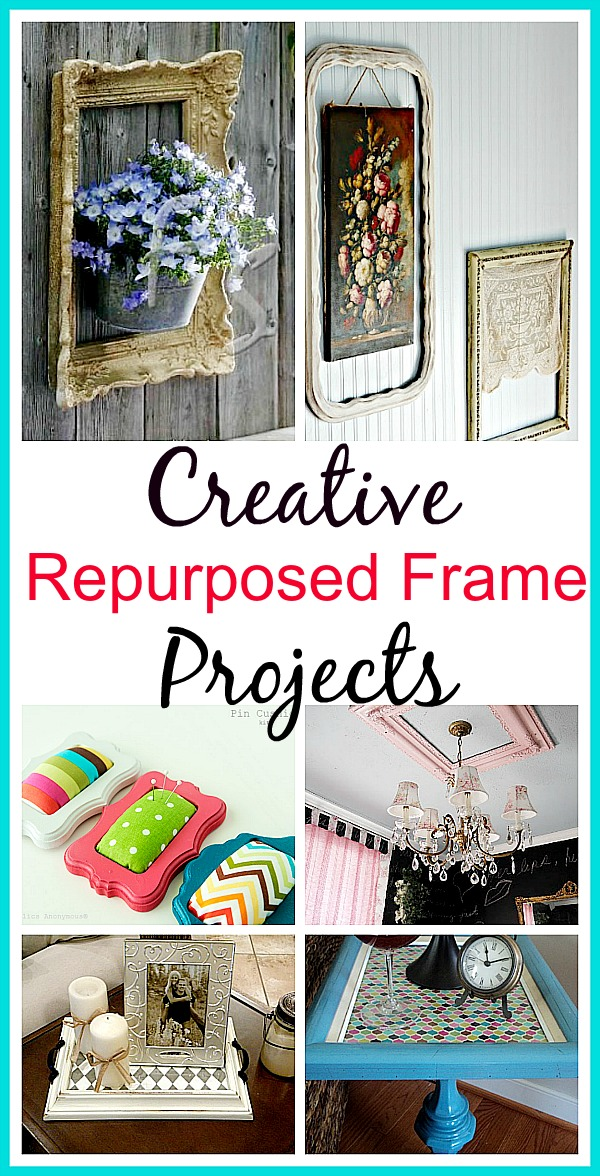 10 Creative Repurposed Picture Frame Projects