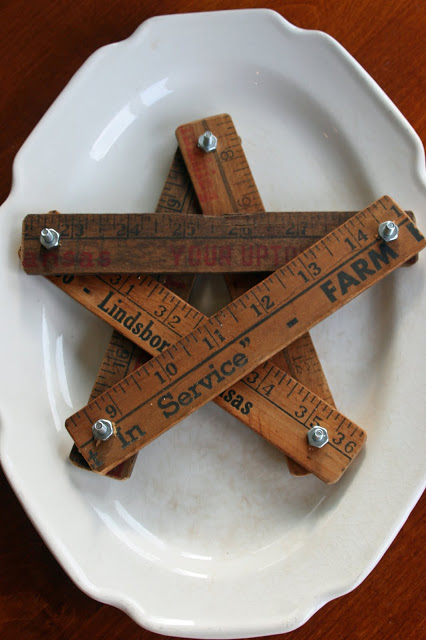 Repurposed rulers like this star from Mamie Jane's