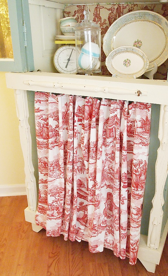 skirt on bottom of china cabinet