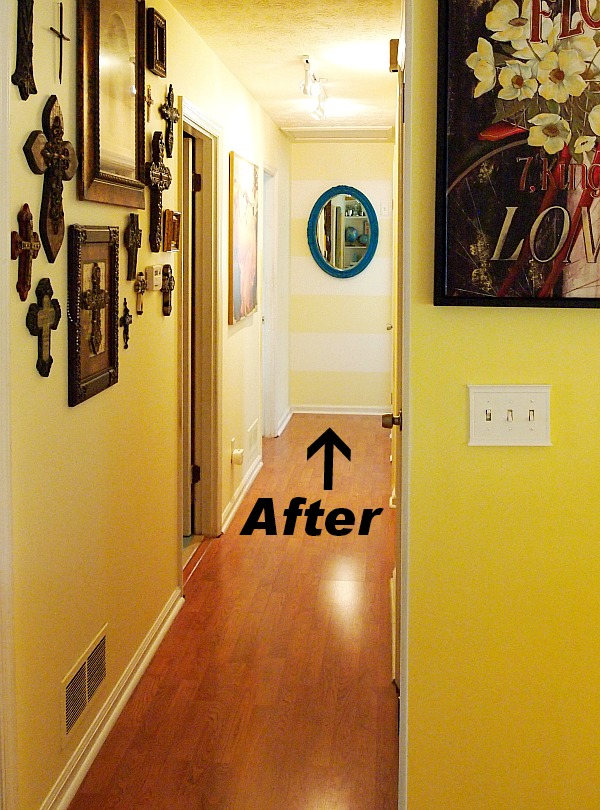 How To Paint A Hallway i painted stripes in my hallway! - a cultivated nest