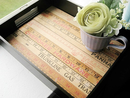 Who knew you could make so many cute things with rulers! Creative ideas for repurposing rulers like using them to cover the bottom of a tray!