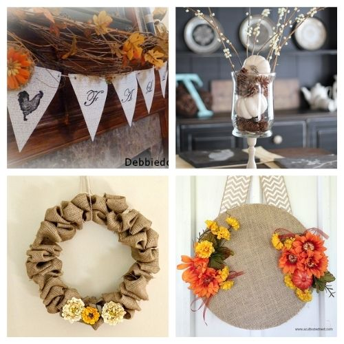 12 Frugal DIY Fall Decorating Ideas- Here are some easy to do, budget friendly, DIY fall decorating ideas that will hopefully give you some inspiration for your fall decor! | #fall #fallDecorating #diyProjects #fallCrafts #ACultivatedNest