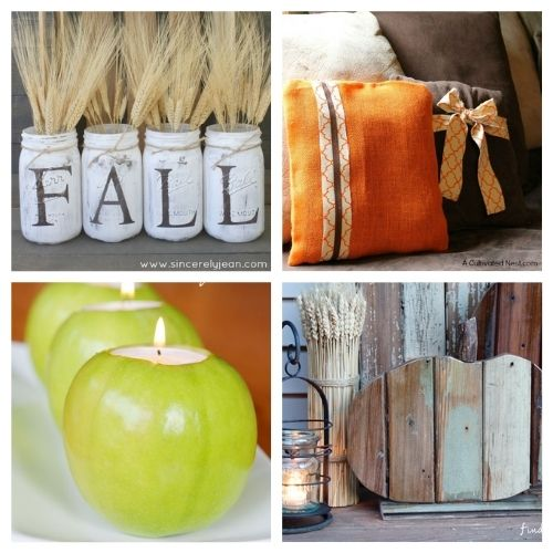 12 Frugal DIY Fall Decor Projects- Here are some easy to do, budget friendly, DIY fall decorating ideas that will hopefully give you some inspiration for your fall decor! | #fall #fallDecorating #diyProjects #fallCrafts #ACultivatedNest
