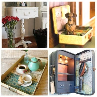 15 Cool Ways To Decorate With Vintage Luggage