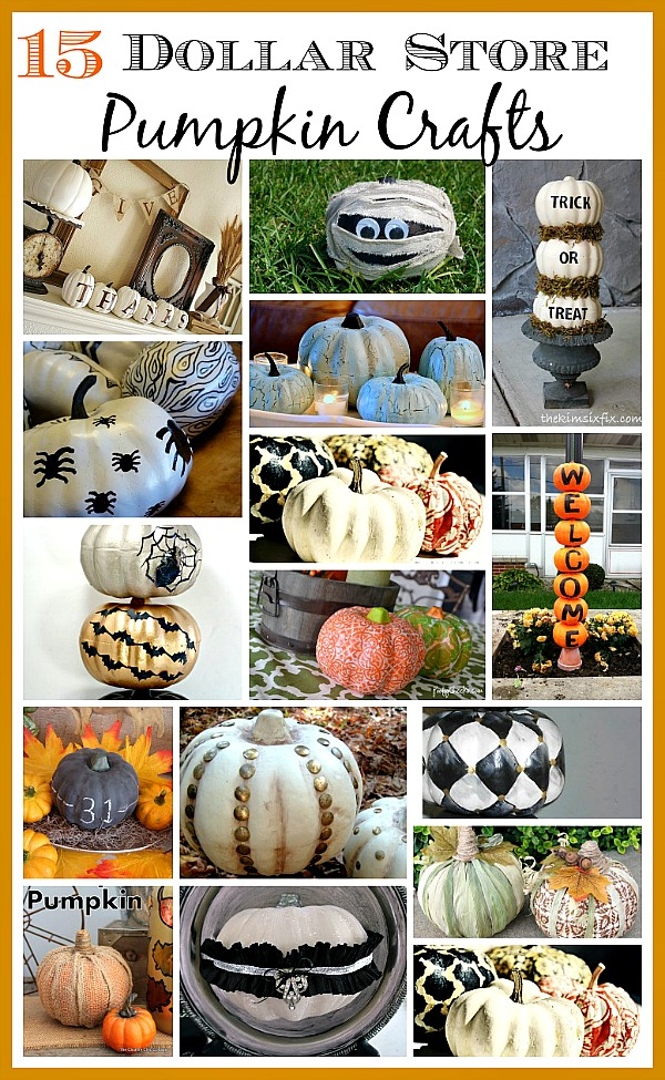 16 Dollar Store Pumpkin Crafts - Foam pumpkins from the dollar store are the perfect fall accessory to makeover on a budget! pumpkin crafts, Dollar Store Crafts, DIY fall home decor projects