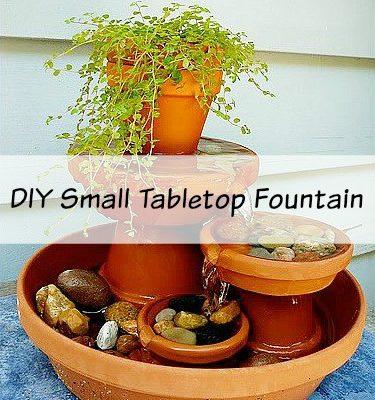 DIY Small Tabletop Fountain