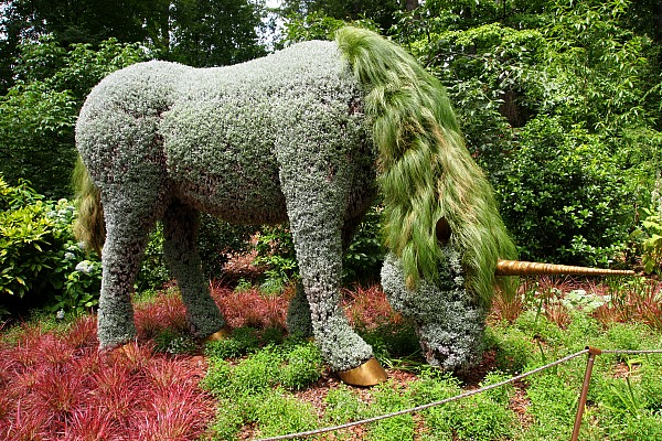 Attrayant Botanical Garden Horse Sculpture