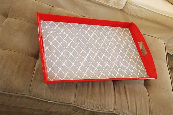 decoupaged tray