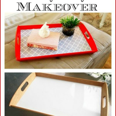 easy tray makeover