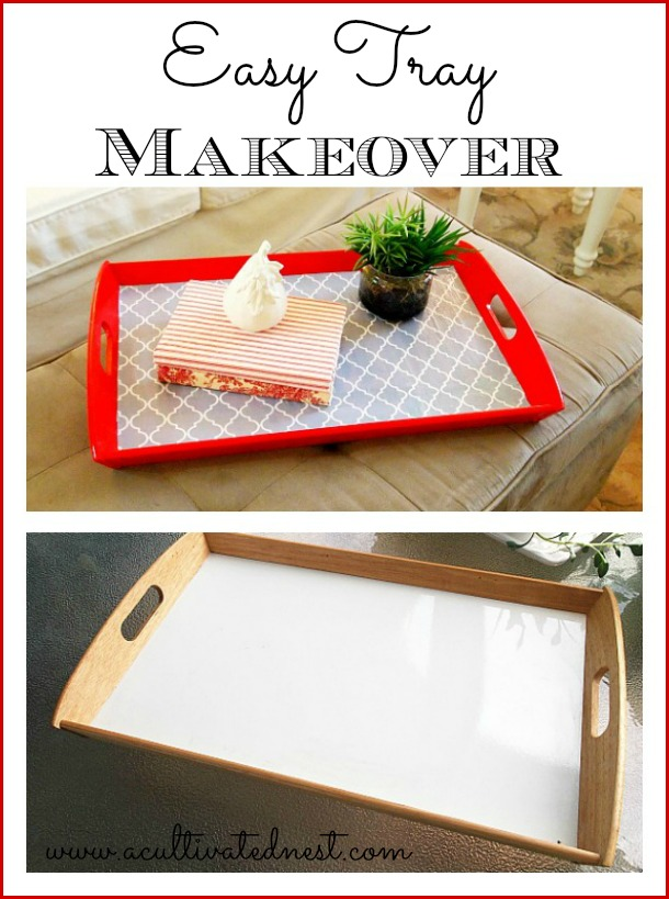 Easy craft project -  tray makeover