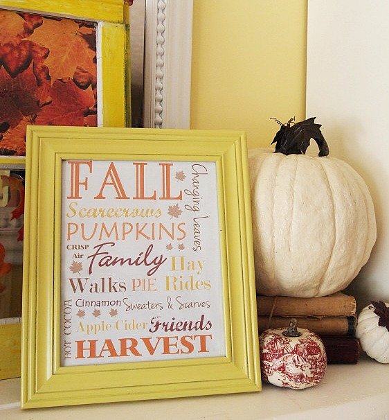 Use free fall printables. Here are some easy to do, budget friendly, DIY fall decorating ideas that will hopefully give you some inspiration for your fall decor.