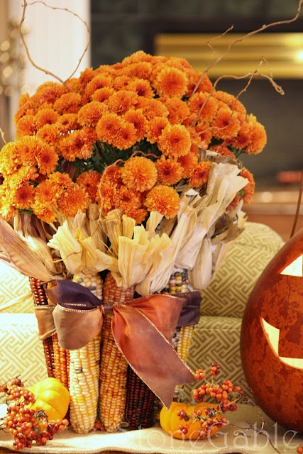 Fall Decorating with Mums- If you want an easy way to decorate your home for fall, you should get some mums! Check out these creative ideas for decorating with mums! | floral decoration, floral decor, easy ways to decorate your home for fall #decor #fall #autumn #flowers #mums #chrysanthemums #decorating #ACultivated Nest
