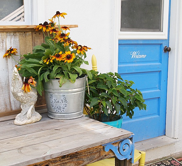 potting bench by the back door