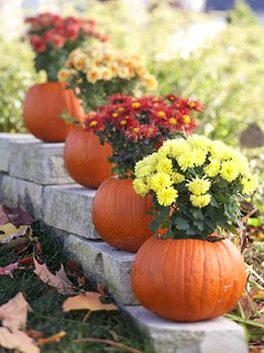Decorate for Fall with Mums and Pumpkins- If you want an easy way to decorate your home for fall, you should get some mums! Check out these creative ideas for decorating with mums! | floral decoration, floral decor, easy ways to decorate your home for fall #decor #fall #autumn #flowers #mums #chrysanthemums #decorating #ACultivated Nest