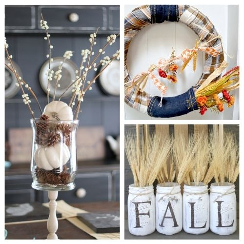 12 Simple Budget Friendly Fall Decorating Ideas- Here are some easy to do, budget friendly, DIY fall decorating ideas that will hopefully give you some inspiration for your fall decor! | #fall #fallDecorating #diyProjects #fallCrafts #ACultivatedNest