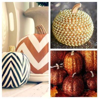 10 Stylish No Carve Pumpkin Decorating Ideas