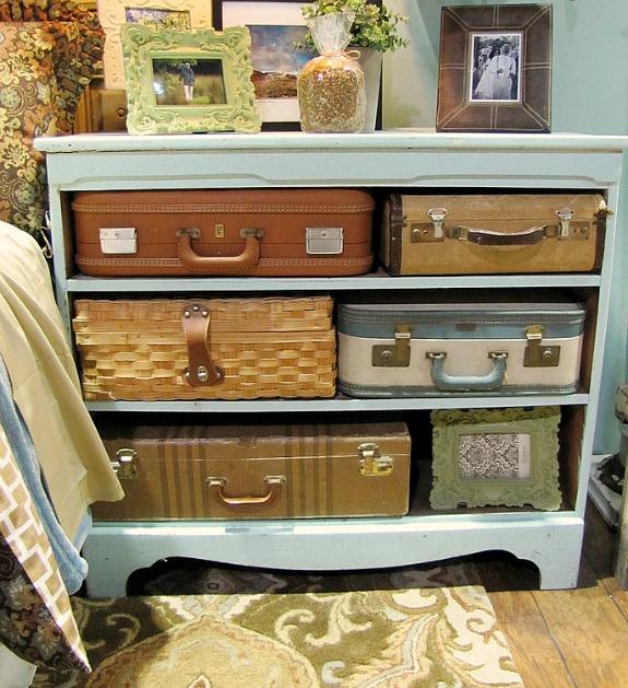 15 Ways To Repurpose A Suitcase - suitcase dresser