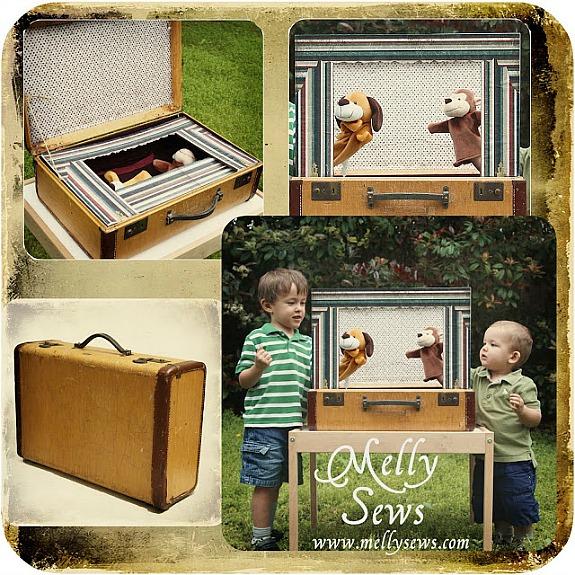 15 Ways To Repurpose A Suitcase - suitcase puppet theatre