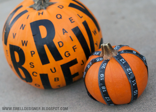 10 Stylish No Carve Pumpkin Crafts- A fun and easy way to decorate your home for fall on a budget, is with these 10 stylish no carve pumpkin decorating ideas!   #fallDecorating #fallPumpkins #craft #DIY #ACultivatedNest