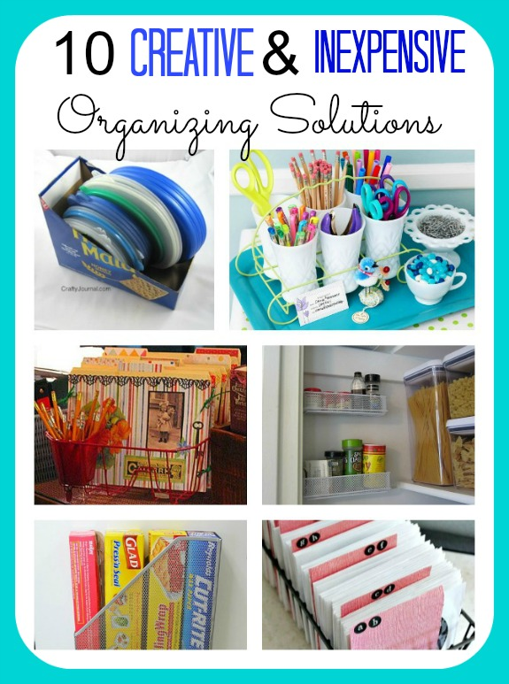 Creative and Inexpensive Home Organizing Ideas- Get your home organized on a budget with these genius frugal organizing hacks! | organize your pantry, organize your desk, organize your kitchen, #organize #organizingTips #homeOrganization #organizing #ACultivatedNest