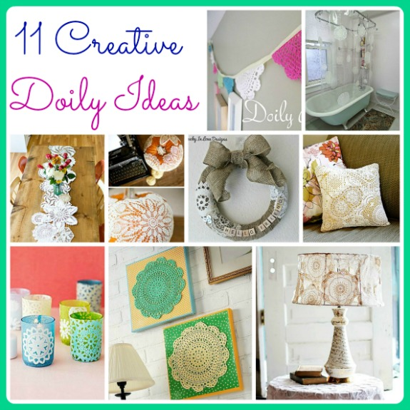 Have some cute doilies, but don't know what to do with them? Why not try doing one of these 11 cute ideas for decorating with doilies!