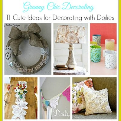 11 cute ideas for decorating with doilies