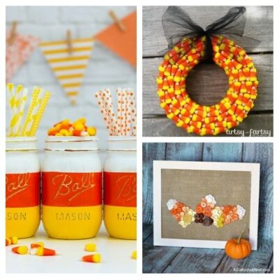 16 Creative Candy Corn Inspired Fall Decorating Projects