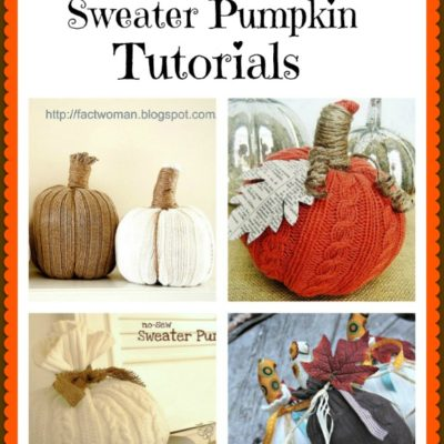 Here's a roundup of 4 fabulous sweater pumpkin tutorials