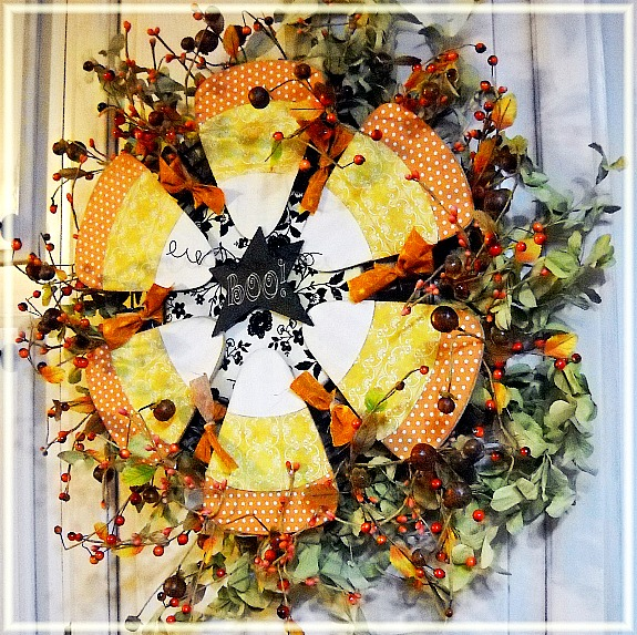 12 Candy Corn Inspired Fall Decorating Projects - candy corn wreath