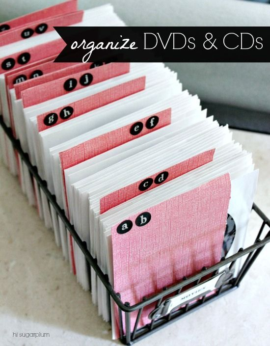 CD/DVD organization