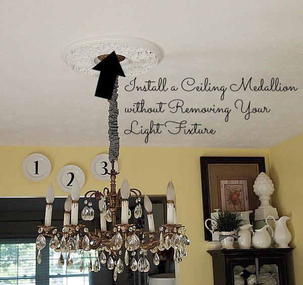 Here's how to install a ceiling medallion without removing your light fixture