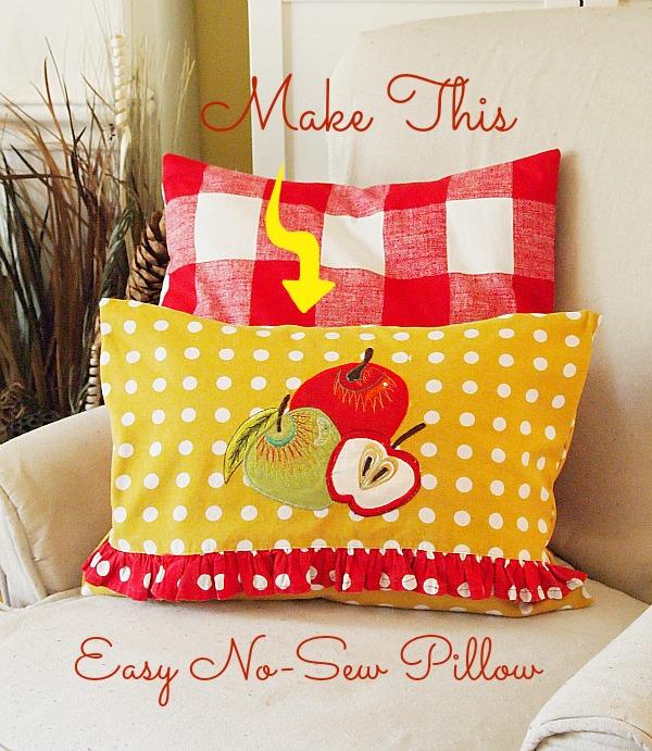 No Sew Home Decor Projects: Easy No Sew Tea Towel Pillow