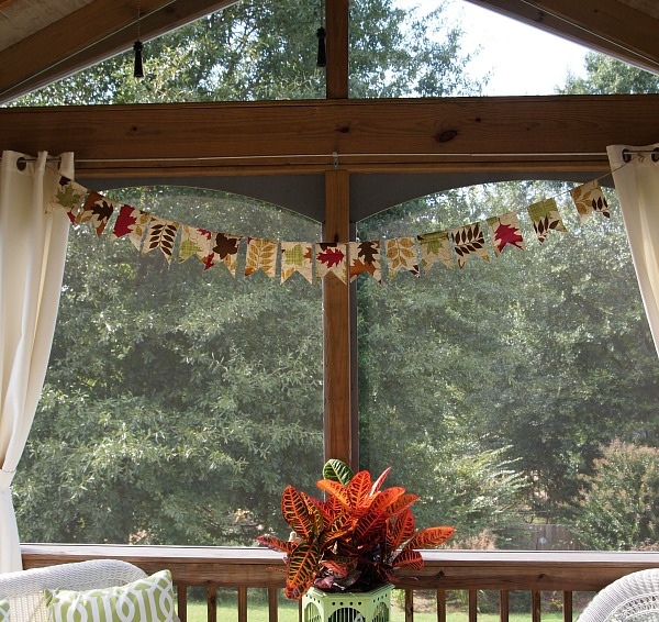 Dollar store tablecloth outdoor banner