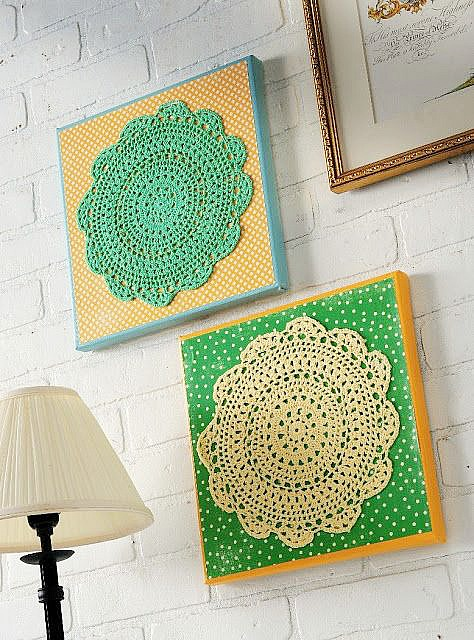 diy doily wall art by Mod Podge Rocks