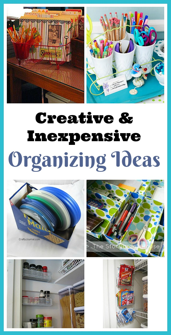 Creative & Inexpensive Organizing Ideas - You'll be amazed at what you can repurpose to organize your home instead of spending tons of money! For some clever frugal organizing ideas, check out these genius DIY organization solutions! | #organizingTips #organization #organize #homeOrganization #ACultivatedNest
