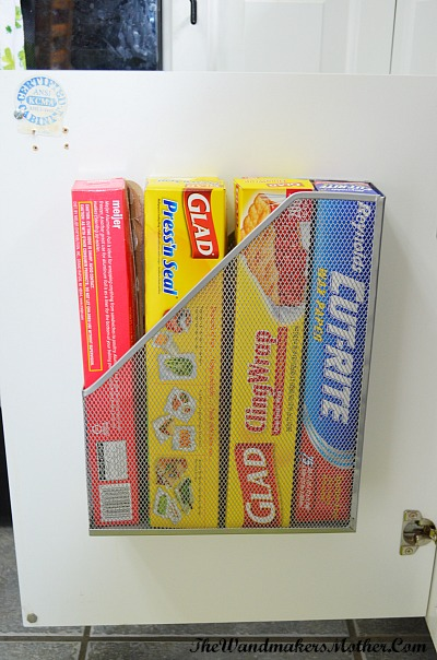 magazine file holder store clingwrap/foil etc - Creative & Inexpensive Organizing Ideas - A great collection of home organizing ideas! You'll be amazed at what you can repurpose to organize your home instead of spending tons of money for storage containers! | organizing, organize your home, DIY organization