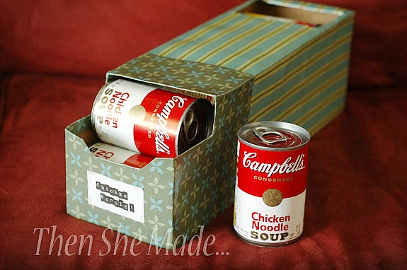 soda fridgepack used as a soup container by Then She Made