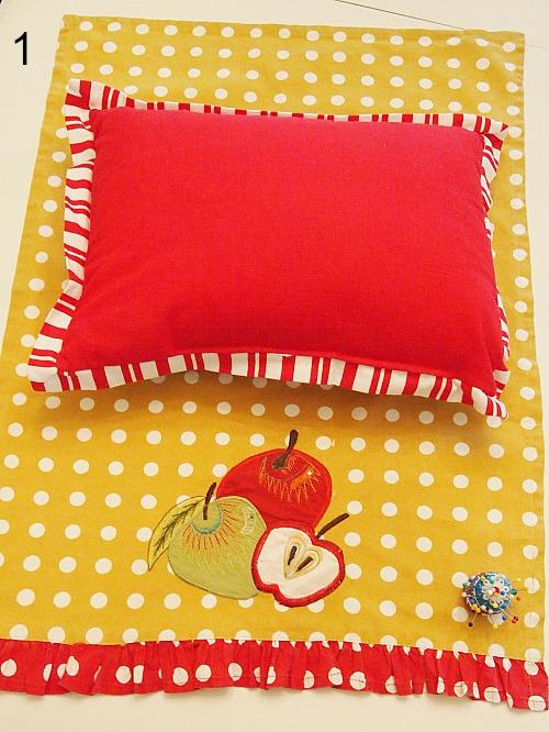 No Sew Home Decor Project: no sew tea towel pillow | step 1 in making a no sew tea towel pillow