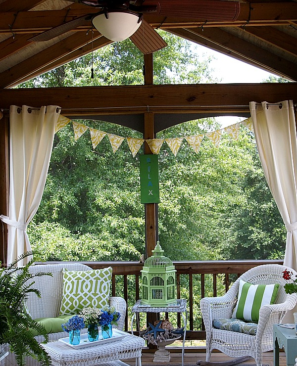 DIY summer outdoor banner