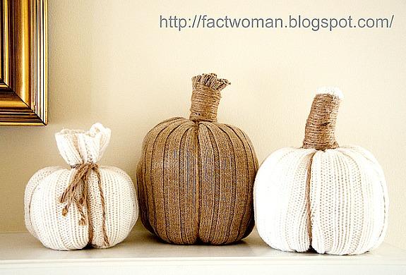 DIY sweater pumpkin tutorial