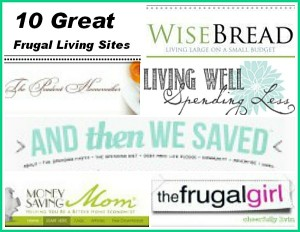 My Top 10 Favorite Frugal Living Websites
